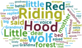 Word cloud of Little Red Riding Hood